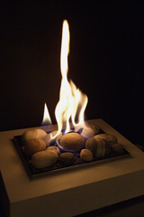 gas fireplace flame